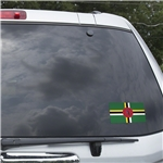 Dominica Flag Graphic Window Cling