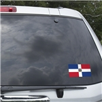 Dominican Republic Flag Graphic Window Cling