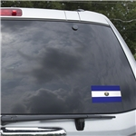 El Salvador Flag Graphic Window Cling