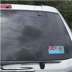 Fiji Flag Graphic Window Cling