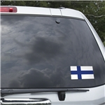 Finland Flag Graphic Window Cling