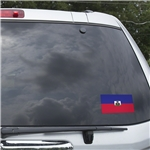 Haiti Flag Graphic Window Cling