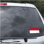 Indonesia Flag Graphic Window Cling