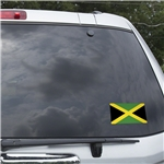 Jamaica Flag Graphic Window Cling