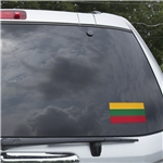 Lithuania Flag Graphic Window Cling