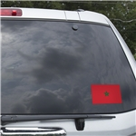 Morocco Flag Graphic Window Cling