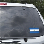 Nicaragua Flag Graphic Window Cling