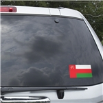 Oman Flag Graphic Window Cling