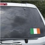 Ireland Flag Graphic Window Cling
