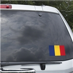 Romania Flag Graphic Window Cling