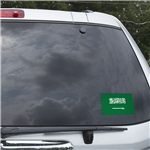 Saudi Arabia Flag Graphic Window Cling