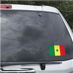 Senegal Flag Graphic Window Cling