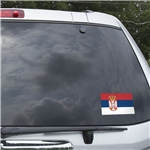 Serbia Flag Graphic Window Cling