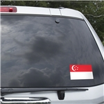 Singapore Flag Graphic Window Cling