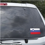 Slovenia Flag Graphic Window Cling