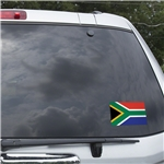 South Africa Flag Graphic Window Cling
