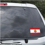 Tahiti Flag Graphic Window Cling