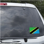 Tanzania Flag Graphic Window Cling