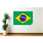 Brazil Flag Wall Decal