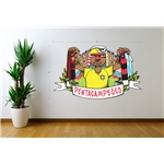 ACME Brazil Pentacampeoes Grapich Wall Decal