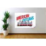 DERLON American Outlaws Recife Graphic Wall Decal
