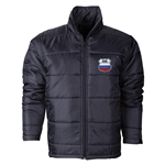 Russia Flag Polyfill Puffer Jacket