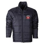 Switzerland Flag Crest Polyfill Puffer Jacket