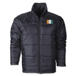 Cote d'Ivoire Flag Polyfill Puffer Jacket