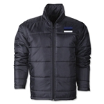 Estonia Flag Polyfill Puffer Jacket