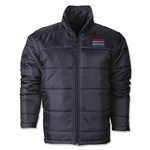 Gambia Flag Polyfill Puffer Jacket