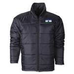 Lesotho Flag Polyfill Puffer Jacket