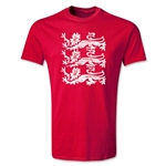 England Three Lions T-Shirt (Red)