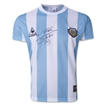 Icons Diego Maradona Front Signed Le Coq Sportif Argentina Home Jersey