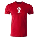 2014 FIFA World Cup Brazil(TM) Official Emblem T-Shirt Men's Premium T-Shirt (Red)