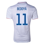 USA 2014 BEDOYA Authentic Home Soccer Jersey
