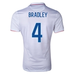 USA 2014 BRADLEY Authentic Home Soccer Jersey