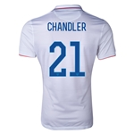 USA 2014 CHANDLER Authentic Home Soccer Jersey