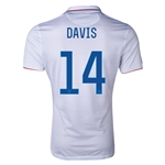 USA 14/15 DAVIS Authentic Home Soccer Jersey