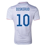 USA 2014 DISKERUD Authentic Home Soccer Jersey