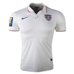 USA 14/15 Authentic Home Soccer Jersey w/ Gold Cup Patch