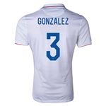 USA 14/15 GONZALEZ Authentic Home Soccer Jersey