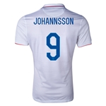 USA 2014 JOHANNSSON Authentic Home Soccer Jersey
