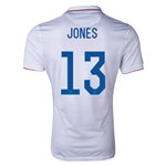 USA 2014 JONES Authentic Home Soccer Jersey