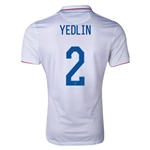 USA 2014 YEDLIN Authentic Home Soccer Jersey