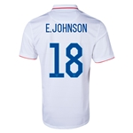 USA 2014 E. JOHNSON Home Soccer Jersey