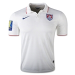 USA 14/15 Home Soccer Jersey w/ Gold Cup Patch
