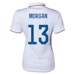 USA 2014 MORGAN Women's Home Soccer Jersey