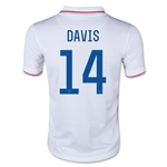 USA 2014 DAVIS Youth Home Soccer Jersey