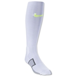 Nike Elite Match Fit Soccer Sock (White/Lime)