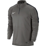Nike Squad Ignite Long Sleeve Midlayer Top (Gray)